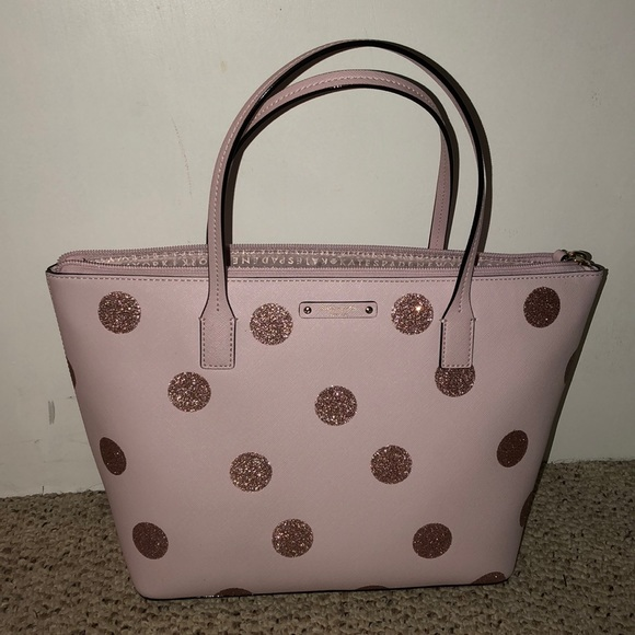 f33b98272276 kate spade Handbags - Kate Spade light pink glitter polka dot bag
